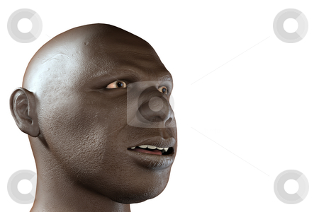 3d black man stock photo, 3d black man by Christophe Rolland