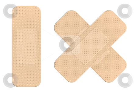 First aid plasters stock vector clipart, First aid plasters by Laurent Renault