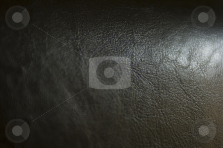 Dark brown leather stock photo, Close-up on dark brown leather by Andreas Brenner