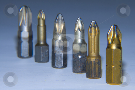 Screwdriver bits stock photo, Several screwdriver bits by Nils Volkmer