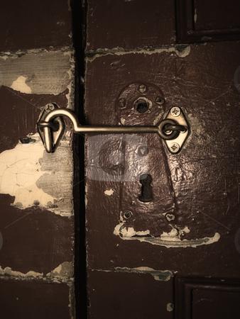 Locked door stock photo, Old lock and locked  door may be keep a some secret behind it. by Sinisa Botas