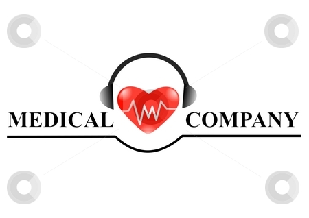 Logo stock photo, Medical logo for web page design - company logo by Stelian Ion