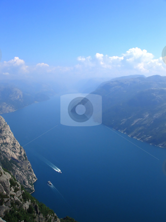 Norwegian fjord stock photo, Beautiful view of the Norwegian fjord - nord europe by Stelian Ion