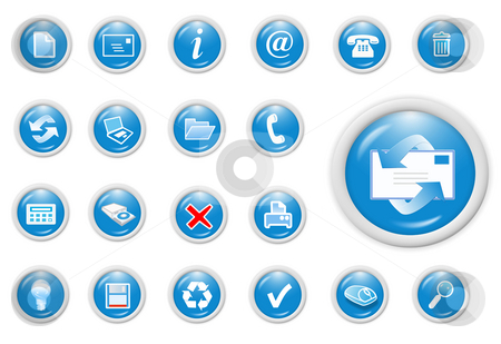 Business icon stock photo, 3d business icon set - web design illustration by Stelian Ion
