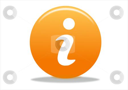 Info symbol icon stock photo, Info symbol icon design - orange series by Stelian Ion