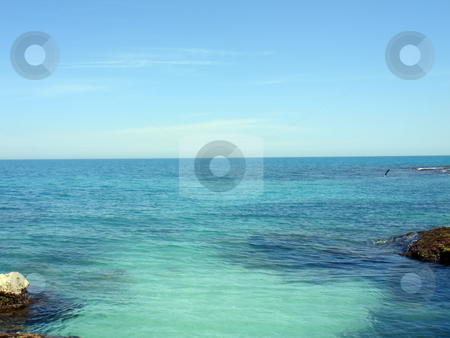 Sea and sky stock photo, The apparent intersection of the sea and sky by Stelian Ion