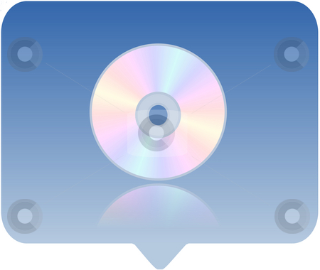 Media player icon stock photo, 3d media player icon - computer generated clip-art by Stelian Ion