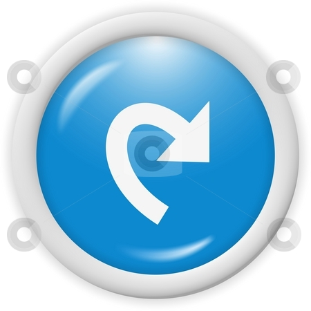 Icon stock photo, 3d blue icon symbol - web design graphics by Stelian Ion