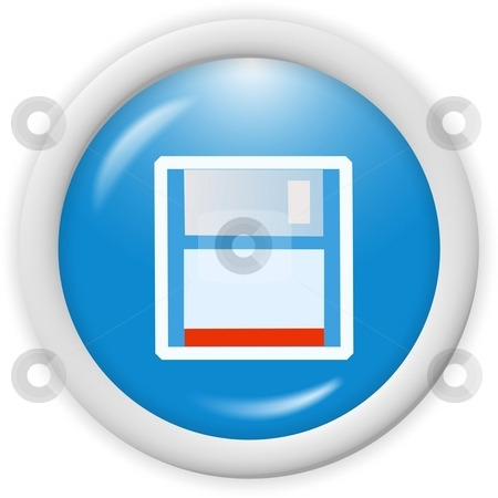 Floppy disk icon stock photo, 3d floppy disk icon - web design graphic by Stelian Ion