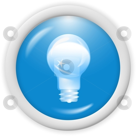 3d blue icon  stock photo, 3d blue icon symbol - bulb, ideas concept - web design by Stelian Ion