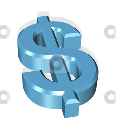 Dollar symbol icon stock photo, 3d dollar symbol icon by Stelian Ion