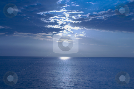 Sunset stock photo, A beautiful sunset on a cloudy day by Stelian Ion