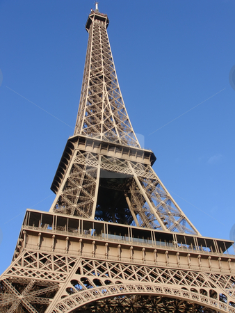 Eifel tower stock photo, Eifel tower on blue sky- architecture from france by Stelian Ion