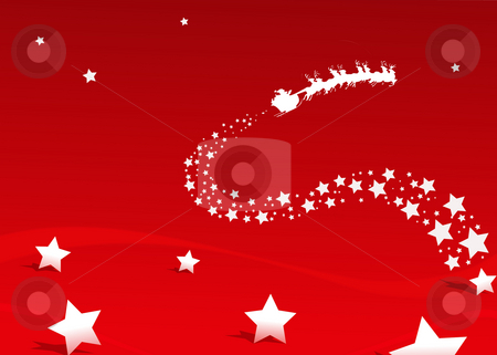 Christmas stock photo, Christmas clipart - santa claus bringing presents by Stelian Ion