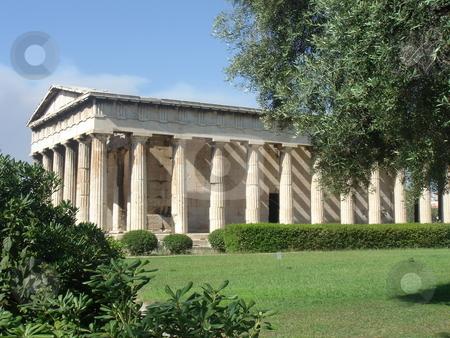 Ancient greece temple stock photo, Agora ancient greece temple - Athene, Greece, europe travel by Stelian Ion