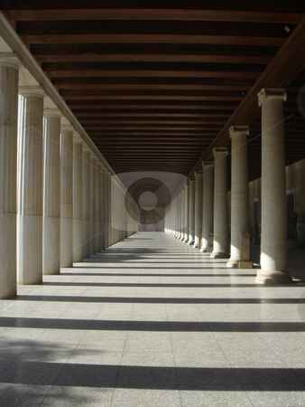 Marble Columns stock photo, Beautiful Marble Columns from Athens - europe travel by Stelian Ion