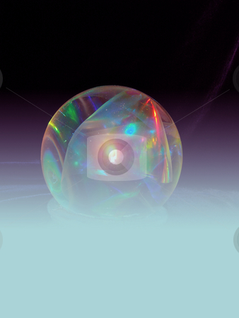 Magic crystal sphere stock photo, A beautiful magic crystal sphere over the blue background by Stelian Ion