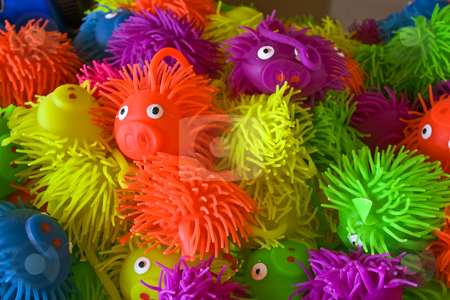 Squishy Pig Toys stock photo, A pile of squishy pig toys. by Steve Carroll