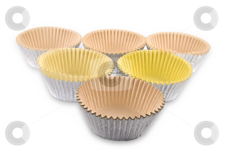 Baking Cups stock photo, Baking cups isolated on white background with clipping path. by Steve Carroll