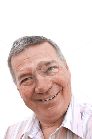Portrate of senior man. stock photo, Head shot of a 57 year old Caucasian man looking into the cameria by Steve Carroll