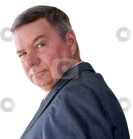 Portrait of Senior Businessman stock photo, Portrait of a senior businessman isolated on a white background. by Steve Carroll
