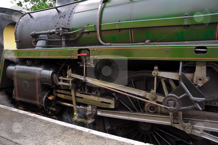 Steam Engine Train stock photo, Steam engine train waiting at Alton station by Robert Ford