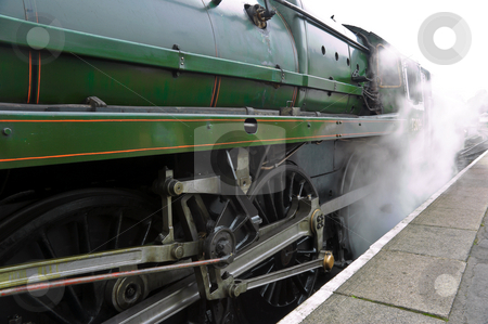 Releasing Steam stock photo, Old steam train engine releasing steam at alton station by Robert Ford