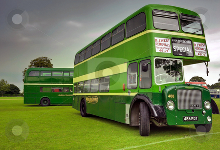 Mean and Green stock photo, Half cab Double Decker in Aldershot and District Livery at Alton bus rally by Robert Ford