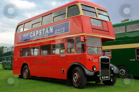 Half Cab Double Decker Bus stock photo, London Transport half cab restored bus at Alton bus rally by Robert Ford