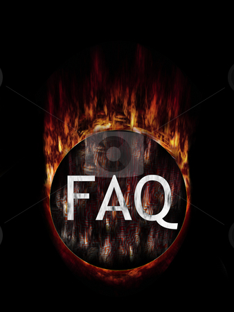 FAQ Mysterious stock photo, Frequently asked questions burning button ball ... by Reinhart Eo