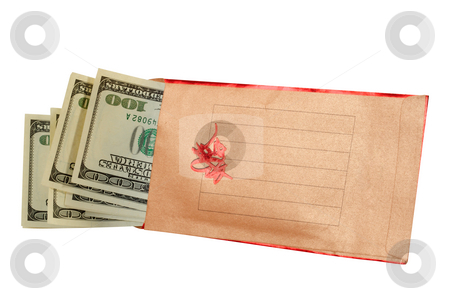 Money there is the best gift. stock photo, Envelope for donation of money on a white background. by Sergey Goruppa