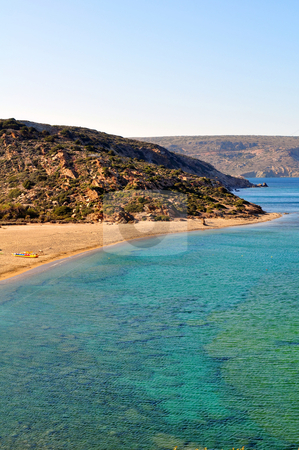 Vai beach stock photo, Vai beach, on the far east end of Crete by Fernando Barozza