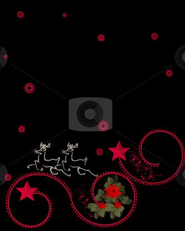Christmas Illustration stock photo, Christmas illustration over black by Laura Smith
