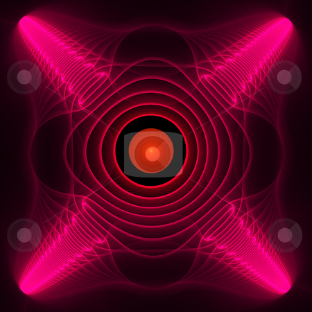Orange Powerball stock photo, Orange and pink intricate fractal element by Helen Shorey