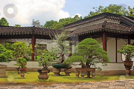 Chinese Garden in Singapore stock photo, Chinese Garden in Singapore ; photographed in October 2008 by Manuela Schueler