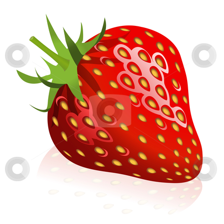 Strawberry stock vector clipart, Illustration of strawberry by Laurent Renault