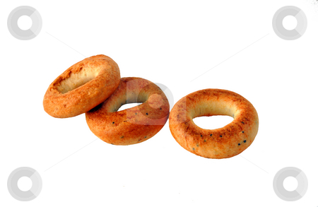 Bakery stock photo, Isolated ring-shaped cracknel by Pavel Cheiko