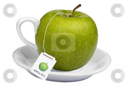 Apple tea stock photo, A nice cup of steamy apple tea a healthy way to start your day by Dirk Ercken