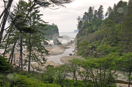 Ruby Beach Washington stock photo, This photo is a Ruby Beach Washington state showing a dramatic ocean scenic. by Valerie Garner