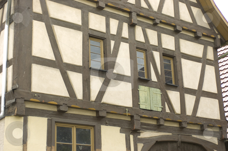 Half-timbering stock photo, Half-timbering close-up by Andreas Brenner