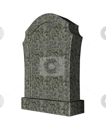 Gravestone stock photo, Marple grave stone on white background - 3d illustration by J?