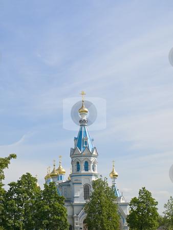 Oriental Church stock photo, Oriental Church against the blue cloudy sky by Sergej Razvodovskij
