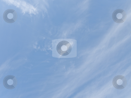 Blue sky stock photo, Blue sky with the fleecy white clouds by Sergej Razvodovskij
