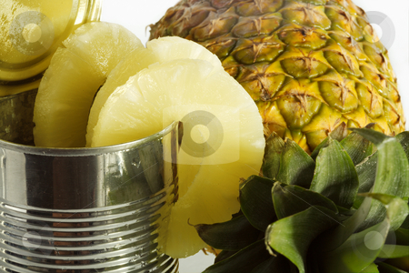 Pineapple stock photo, Pineapples can be kept perfectly as canned food. by Sergey Goruppa
