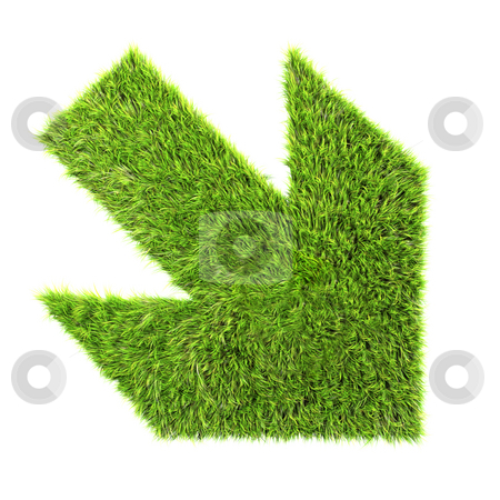 Grass sign stock photo,  by Christophe Rolland