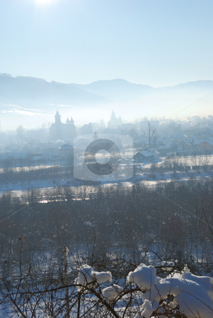 Winter time stock photo, Trees from mountain in winter time by Dragos Iliescu