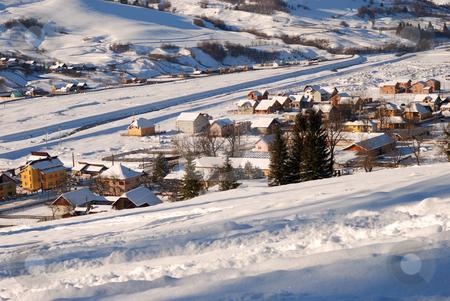 White snow stock photo, White background by Dragos Iliescu