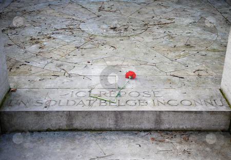 Unknown soldier tomb stock photo, Tomb of an unknown Belgian soldier in Pere Lachaise cemetery by Jaime Pharr