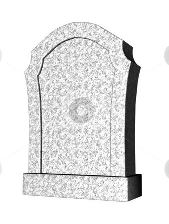 Graveyard stock photo, Marple grave stone on white background - 3d illustration by J?