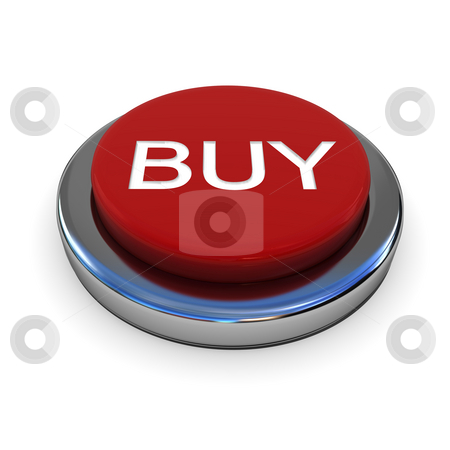 Red button stock photo, Red button with text